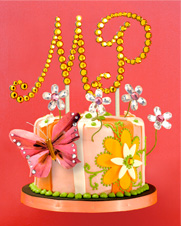Cake Jewels by Very Different Cakes - Customizable heirloom-quality Swarovski crystal cake decorations.